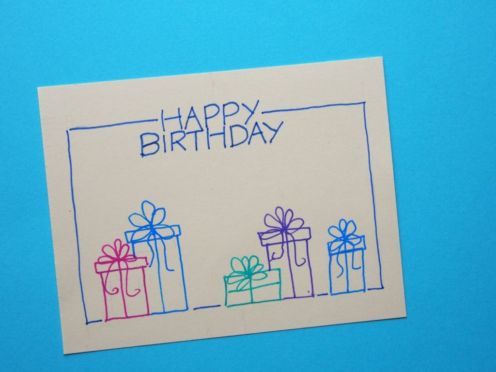 8 Super Easy Diy Watercolor Birthday Cards Cha Ching On A Shoestring