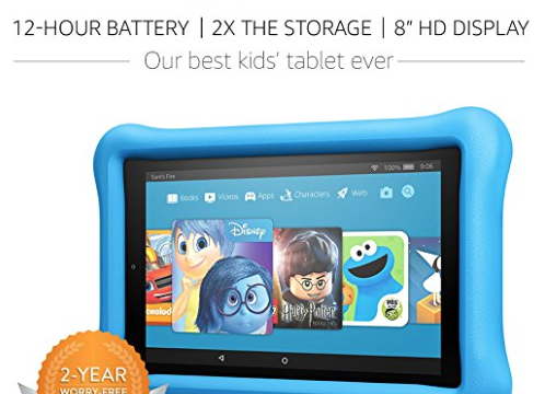 Amazon: All-New 32 GB Fire HD 8 Kids Edition Tablet with Kid-Proof Casefor $99 (Reg. $130)