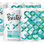 Amazon: Presto Paper Towels as low as $0.58 per Roll – Shipped (+ Bath Tissue $0.15 per Roll!)