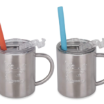 Amazon: Set of 2 Stainless Steel Sippy Cups with Lid and Straw for $12.59 ($6.30 Each)