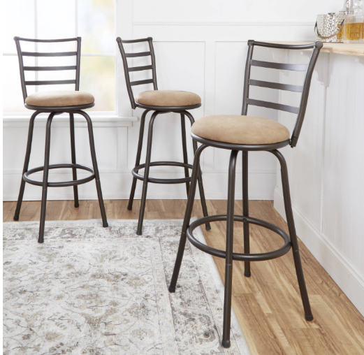 Walmart Mainstays Adjustable Height Swivel Barstool 3