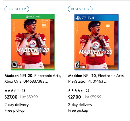 Madden NFL 20 Black Friday Deal